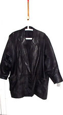 GENUINE LEATHER LADIES JACKET IN BLACK SIZE UK 18, EU 44