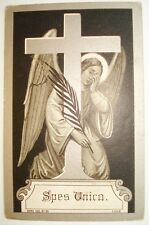 101. ENGEL ANTIQUE FUNERAL HOLY CARD SILVERED 1839†1920