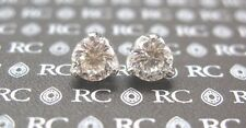 Roberto Coin 18Kt Cento Tulip Diamond Stud Earrings 2.08Ct G-VS1