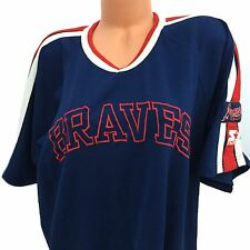 ATLANTA BRAVES VINTAGE STARTER JERSEY SHIRT RED NAVY GENUINE MLB BASEBALL SZE XL