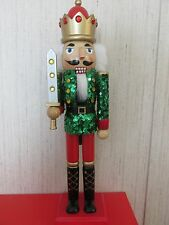 Red Green Sequins Gold  Nutcracker Christmas Royal King