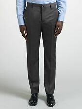 Hackett London Men's Grey Super 120s Wool Twill Trousers Size 34R 34W / 32L £135