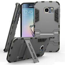 For Samsung Galaxy S6 Edge Military Heavy Duty Bumper Armor Cover Stand Case
