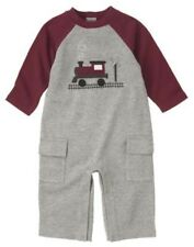 New Gymboree gray 1 pc pants set boy 0-3 m Train Time