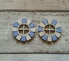 FAIRY DOOR ACCESSORIES WINDOWS X 2 BLUE ELF FAERIE PIXIE