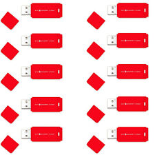 MyMemory 8GB USB 2.0 Flash Drive Memory Stick Pen Thumb 10 Pack - Red New Uk