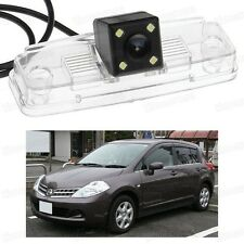 4 LED Car Rear View Camera Reverse Backup CCD for Nissan Tiida Versa 2007-2010