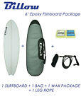NEW Billow 6' Epoxy Fish Surfboard Matte Finish package with 5xFCS fins