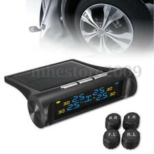 LCD Car Wireless Solar TPMS Tire Pressure Monitoring System w/ 4 External Sensor