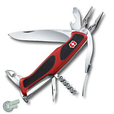 Victorinox Ranger Grip 74 14 Function Swiss Army Knife - Black/Red - 0.9723.CB1