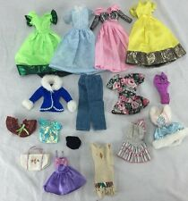 LOT OF BARBIE CLOTHES DRESSES OLYMPIC BAG SWIMSUIT
