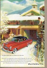 1953 Print Ad Plymouth Belvedere Red 2-Dr Challenger Inn Sun Valley,Idaho