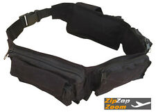 Army Combat Utility Belt Military Waist Money Travel Bum Bag Retro Surplus Black