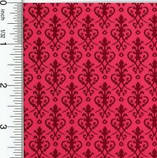 Dollhouse Wallpaper Victorian Red on Red