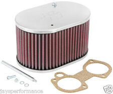 56-9107 K&N CUSTOM AIR FILTER FOR SINGLE & TWIN BARREL WEBER 40/45/48 DCOE CARBS