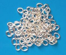 500 SP oval jump rings, 6.5mm x 5mm, findings for jewellery making crafts