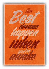 "Best Dreams Grunge Vintage Card Car Bumper Sticker Decal 4"" x 5"""