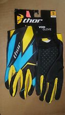 New Thor S13 Void Yellow/Cyan Adult  Sm Small Gloves 3330-2512