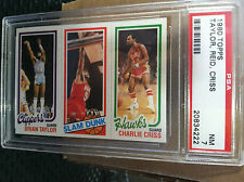 1980 TOPPS B. TAYLOR/ ROBERT REID/ CHARLIE CRISS PSA GRADED NM-7