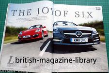 Evo Magazine 161 - Mercedes SLK350 v Porsche Boxster S 987