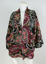 Soft Surroundings Sz M/L Floral Embroidered Wool Boho 3D Art-to-Weart Jacket