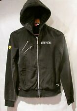 FERRARI Hoodie PUMA Black Zip-Front Hooded Sweatshirt Women's Size M
