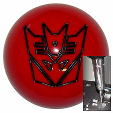 Transformer Decepticon Red Black shift knob for Dodge Chrys auto stk w/ adapter
