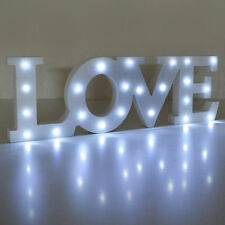 LOVE Wooden Led Light Up Sign Plaque Word Gift Home Office Party Decoration Fun