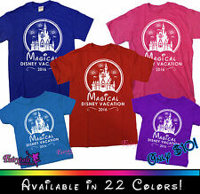 Magical Disney Vacation T-Shirts - 22 Colors - Matching 2016 Castle Tee