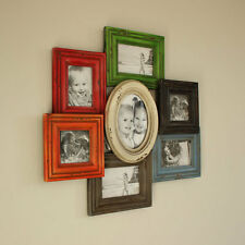 Wooden Wall Multi Coloured Photo Frame Vintage Style Gift Idea Present