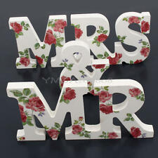 Mr & Mrs Wedding Wooden Letters Sign Party Table Top Centrepiece Decoration