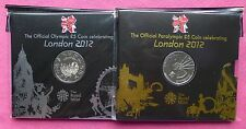 2012 ROYAL MINT OLYMPIC AND PARALYMPIC TWO FIVE POUND COIN SET NEW AND SEALED
