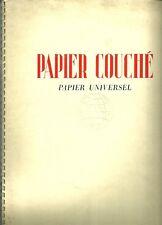 PAPIER COUCHÉ papier universel + 1938 + Henri SJÖBERG