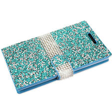Bling Crystal Diamond Rhinestone Flip Wallet Diary Cover Case for Cell Phones