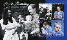 Guyana 2014 MNH Prince George Cambridge Primero Cumpleaños 4v M/S I William Kate