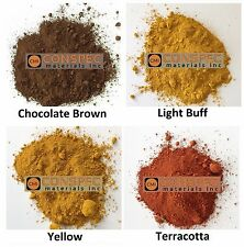 12 LBS Lot BUFF BROWN YELLOW TERRACOTTA Concrete Color Pigment Dye Cement Mortar