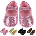 Infant Baby Girl Shoes Soft Sole Bling Sequin Prewalker Crib Shoes Newborn 0-18M