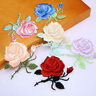 Rose Flower Iron-On Embroidered Patch Applique Motif Garment Decoration Craft TG