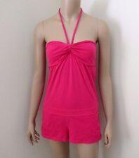 Hollister Womens Halter Romper Size Small Jumper Strapless Short Hot Pink Soft