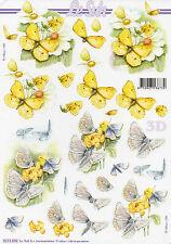 3D Bogen Motivbogen / Etappenbogen Grußkarte Scrapbooking Schmetterlinge (309)