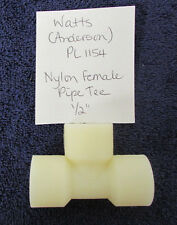 """Nylon Pipe Tee 1/2"""" Female Pipe T Fitting Lot of 1 Anderson NEW X34"""