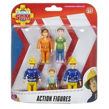 New Fireman Sam 5 Figure Action Pack Tom, Dilys, Elvis, Norman & Sam