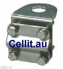 MIRROR/BAR/POLE ZINC BRACKET FOR MOBILE PHONE CB UHF ANTENNA, SPOT LIGHTS etc.