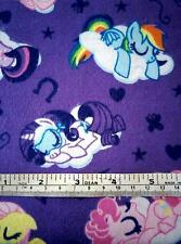 MY LITTLE PONY FLANNEL LILAC COTTON QUILT FABRIC 45CM X 110CM FREE POST*
