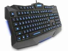 Plixio LED Backlit Light-Up Wired USB Gaming Color Changing Keyboard PC Lap