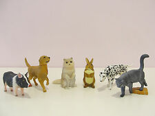 CUTE PETS DOG CAT BUNNY PIG MINI FIGURE COLLECTION NEW RARE IMPORT!