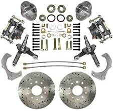 Mustang II Disc Brake Kit Spindles Drilled & Slotted Rotors Street Rod Mustang 2