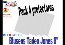 "**Pack 4 Protectores de pantalla para BLUSENS TADEO JONES 9"" UNIVERSAL PC 90"
