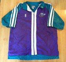 Vintage Champion NBA Utah Jazz Full Zip Up Short Sleeve Warm Up Jacket. Men's XL