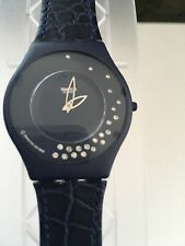 "SWATCH WATCH ""LA NUIT ETOILEE"" SPECIAL PKG LIMITED EDITION NIB 21REAL DIAMONDS!!"